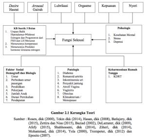Kerangka Teori KB DMPA vs Fungsi Seksual Akseptor